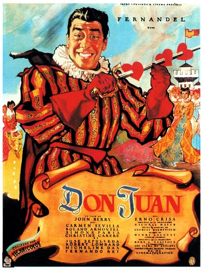 DON JUAN - BOX OFFICE FERNANDEL 1956
