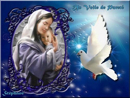 Hommage à la Vierge Marie