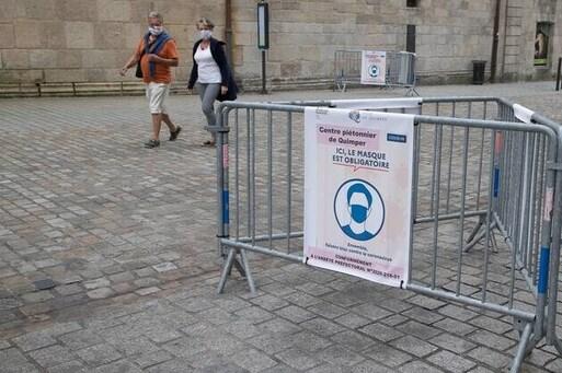 L'obligation de porter le masque en centre-ville de Quimper (Finistère) est prolongée jusqu'à nouvel ordre.