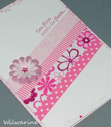 carte CAS rose fleur