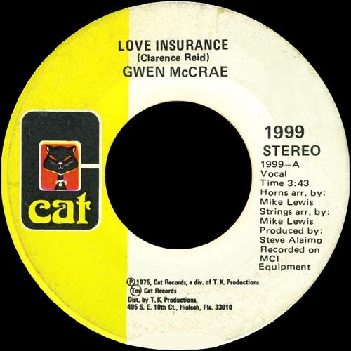 """Gwen McCrae : Album """" Gwen McCrae """" Cat Records CAT 1603 [ US ]"""