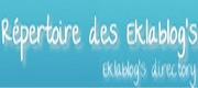 le répertoires des Eklablogs - Inscrivez-vous - c'est gratuit et ce sont des amis...
