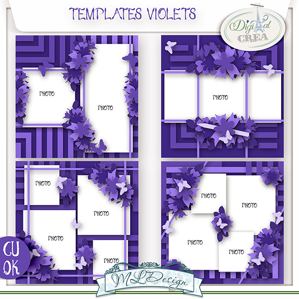 TEMPLATES VIOLETS BY MLDESIGN
