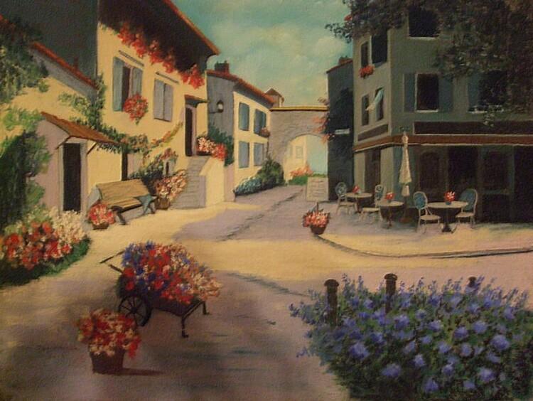 Place de village de Provence