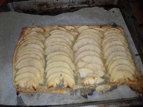 Un petit dessert tout simple...tarte fine aux pommes