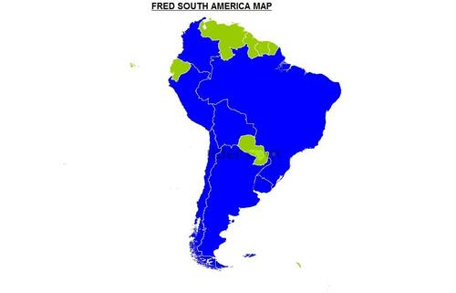 FRED'S SOUTH AMERICA MAP