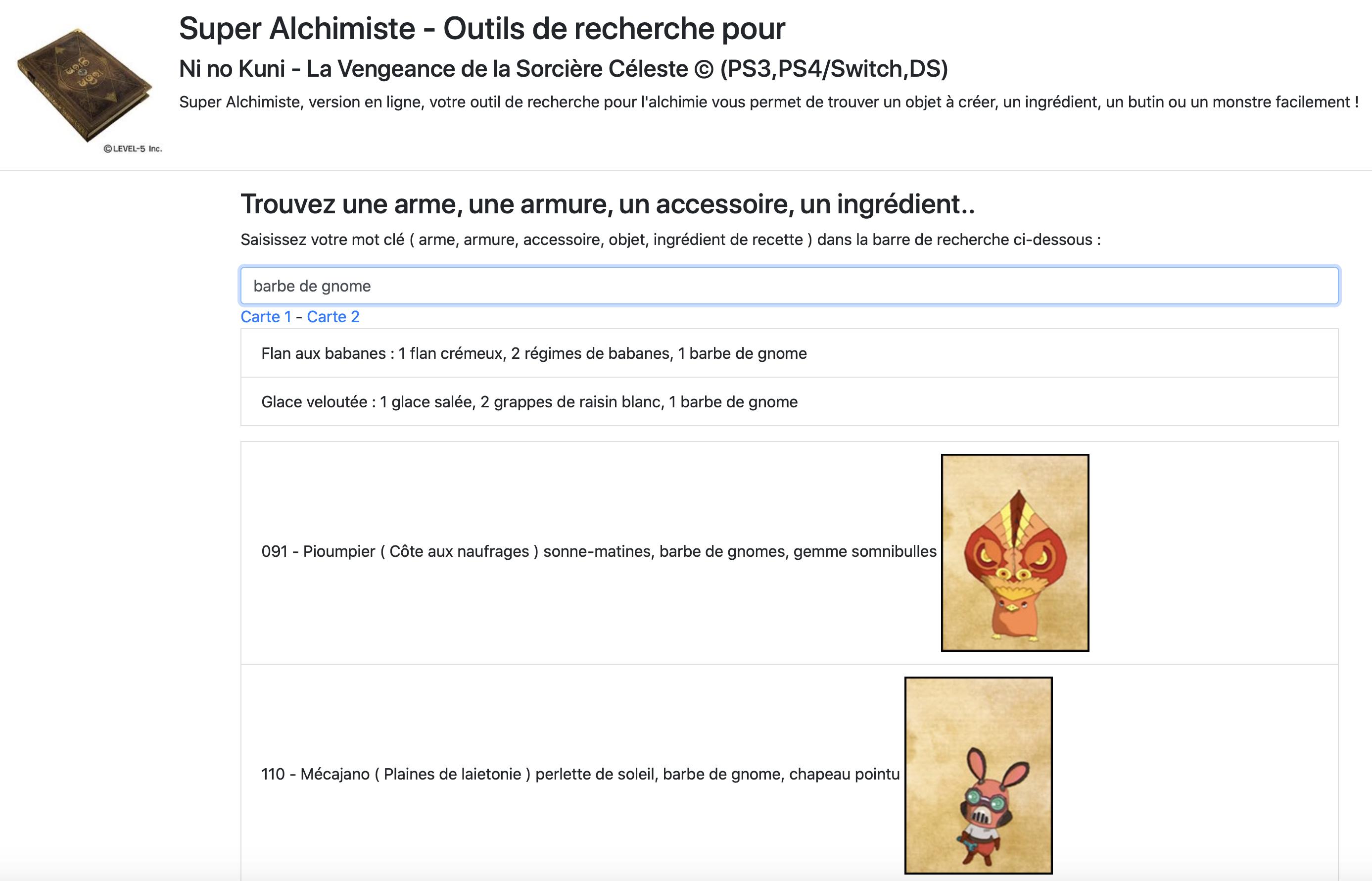 ShadowsLabs : outils en jeux vidéo, super alchimiste pour ni no kuni