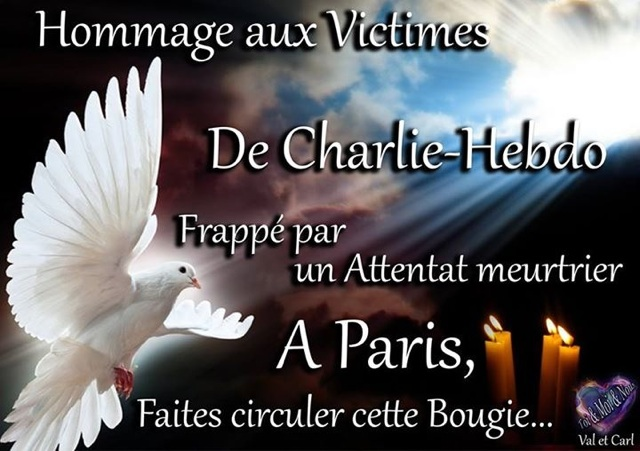 Hommage aux victimes attentat Charlie Hebdo