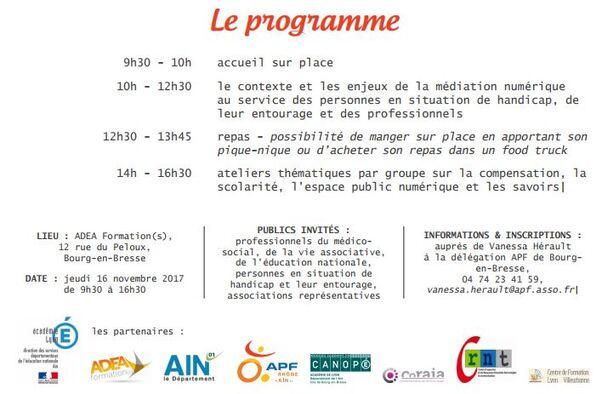 La journée du numérique : Bourg en Bresse, jeudi 16 novembre 2017