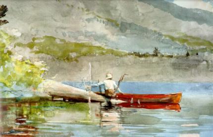 winslow homer the red canoe