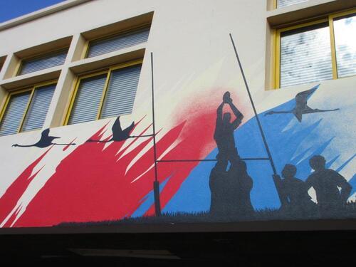 Groupe scolaire Jules Verne à Valras (34) 4 supports de 180m² environ Juillet Aout 2016