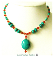 Turquoise, Cornaline Mixed