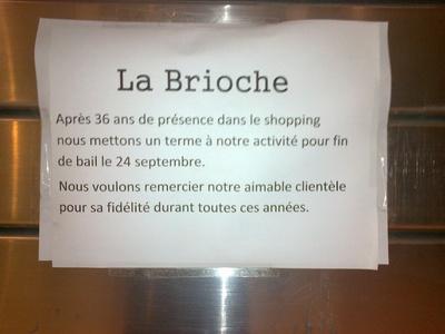 """Wolu1200 : """"La Brioche"""" du shopping met la clé sous le paillasson"""