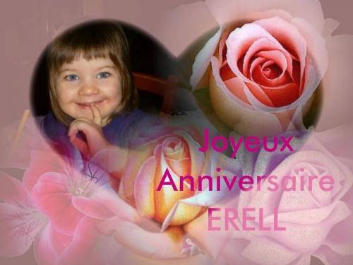 Bon anniversaire Erell....