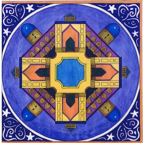 Mandalas du Moyen Orient avec le Mage Abdesellem, serviteur de la Paix et le Aj-djinn
