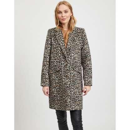 Un manteau imprimé Léopard