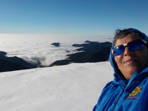 DOMANDALAS  mer de nuage randonnée dans la neige