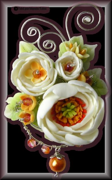Tube fleur en porcelaine 2972