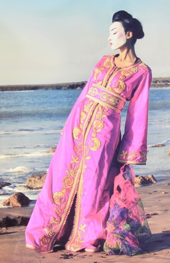 Caftan sublime Rose KAF S1021