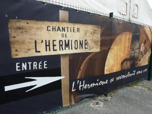 Le chantier de l'Hermione