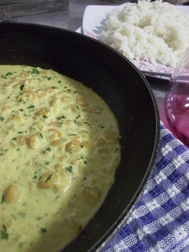 Crevette Lait de Coco Curry