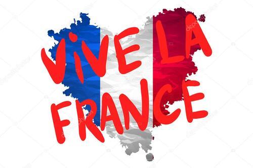 Bonjour avec.....     vive la France