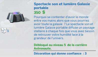 Spectacle son et lumière Galaxie portable