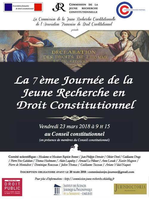 7ème Journée de la Jeune Recherche en Droit constitutionnel