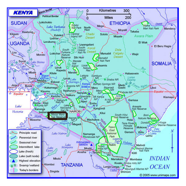 Carte du Kenya