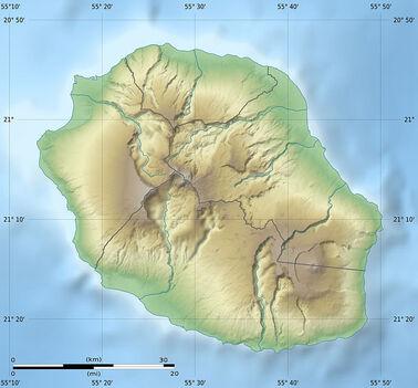 Voir la carte topographique deLa Réunion
