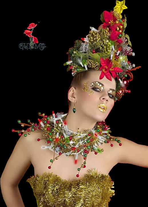 Tubes Femmes Noel