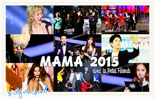MAMA 2015 !