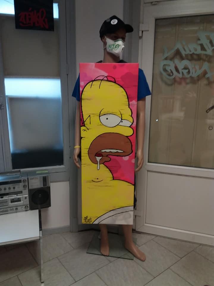 Piège en Homer Trouble. 120x40cm.