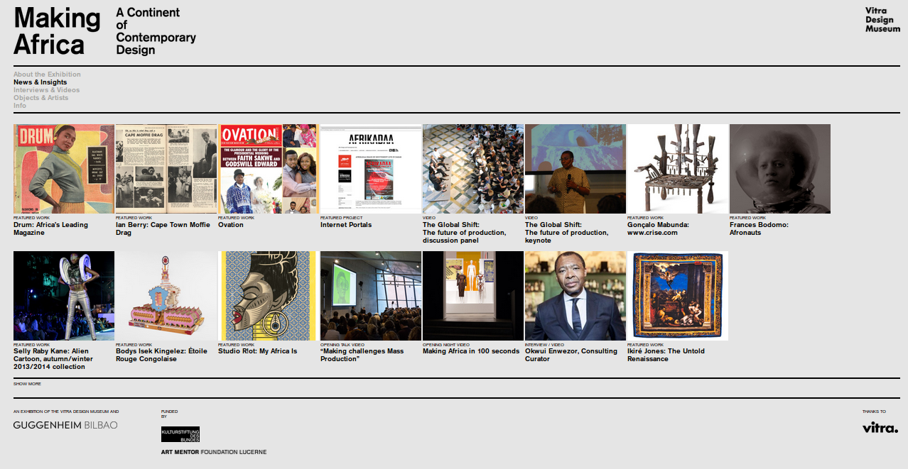Design contemporain africain, un livre...une expo...l'incipit d'une longue & ancienne Histoire...