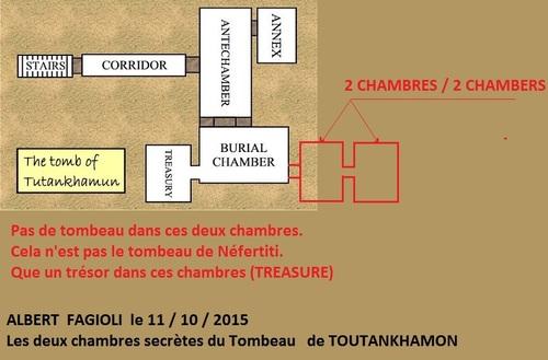 Les deux chambres secrètes du tombeau de Toutankhamon. (Albert Fagioli)