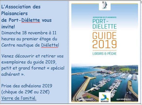 Dimanche 18 novembre : Remise officielle du guide 2019