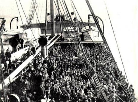steerage passengers on deck