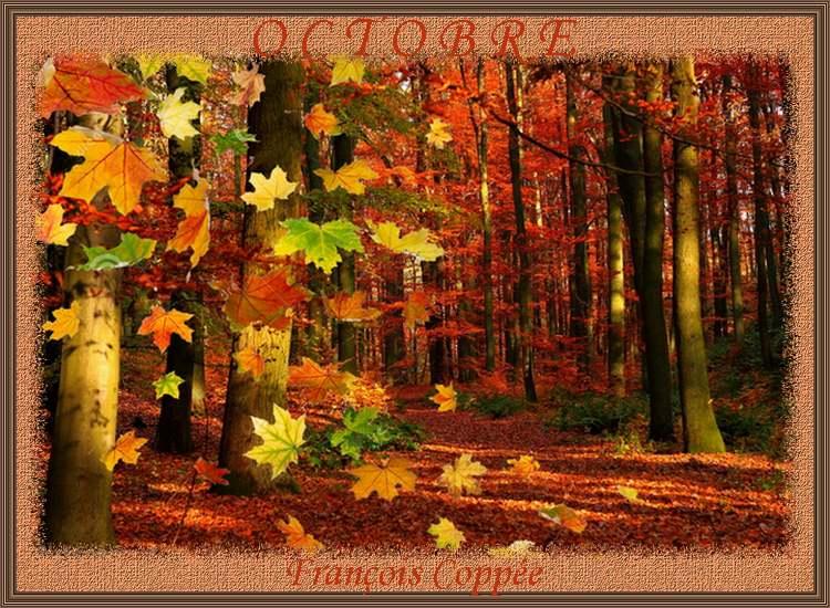 """"""" Octobre """" poème de François Coppée"""