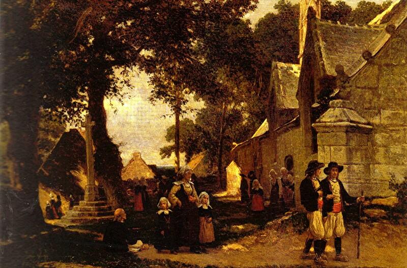 1-Pont-Aven - les anglos-saxons dans le village!