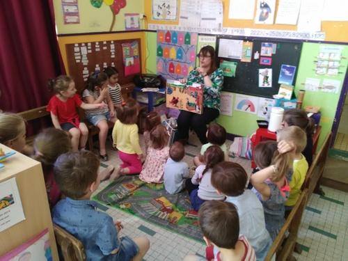 Visite de Corinne ( de la bibliothèque)