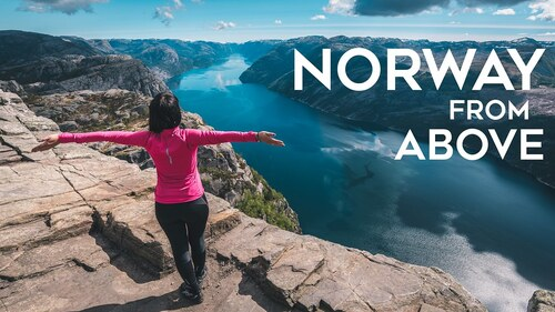 NORVÈGE. Lofoten islands, from above by drone in 4K  (Voyages)