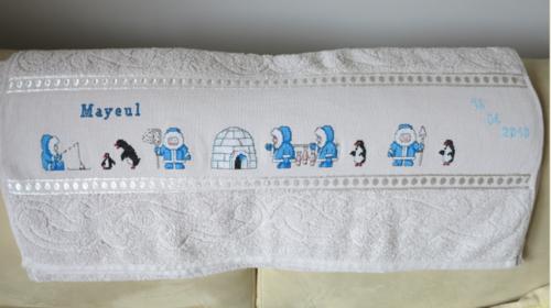 MIREILLE une serviette pour Mayeul