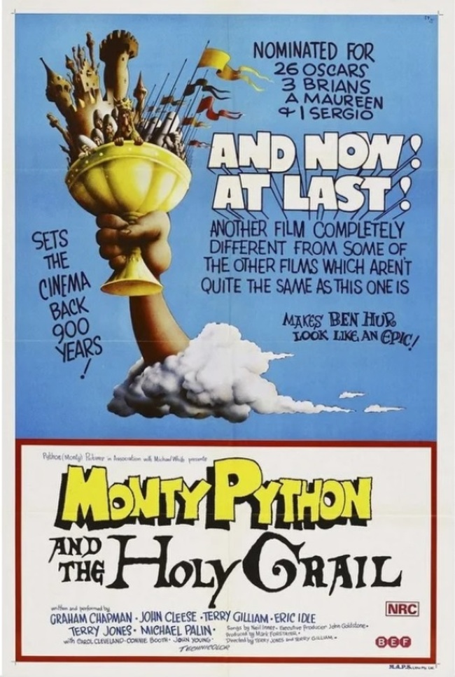 MONTY PYTHON AND THE HOLY GRAIL BOX OFFICE USA 1975