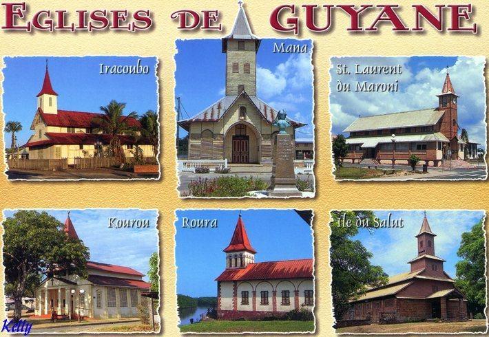 carte postale de la Guyane