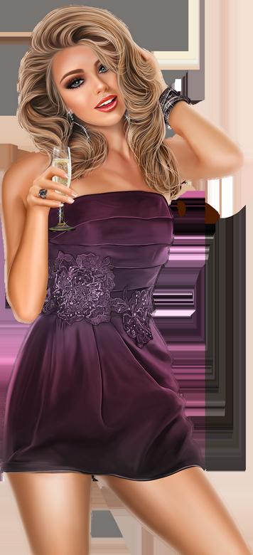 Tubes Femmes robe de fête