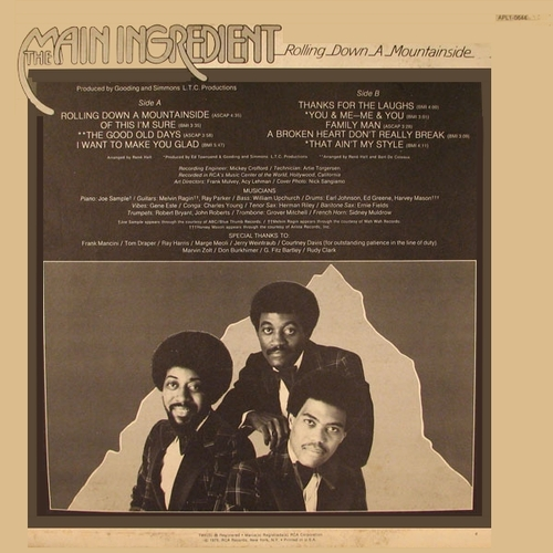 "The Main Ingredient : Album "" Rolling Down A Mountainside "" RCA Victor Records APL1-0644 [ US ]"