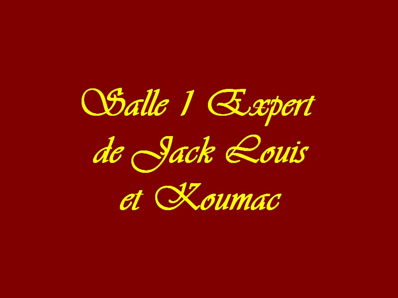 Salle 1 Experts de Jacks Louis et koumac