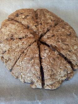 scones aux pépites de chocolat (version plus classique)
