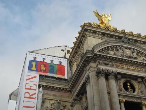 bâche affiche géante Ralph Lauren Opéra 1