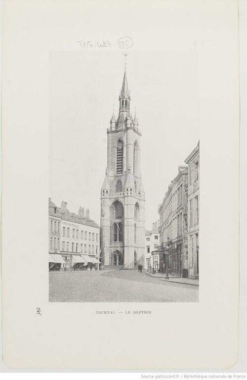 Tournai, le Beffroi - Belgique pittoresque et monumentale. Bruxelles, C. Bulens, s.d. (vers 1900)(gallica)